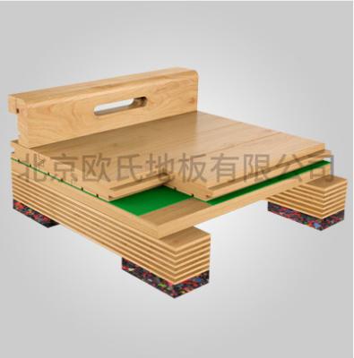 欧氏单层龙骨结构运动木地板