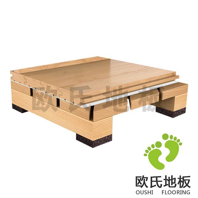 45°斜铺结构运动木地板