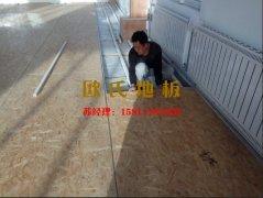 天津西青区梨园监狱 篮球馆木地板安装现场