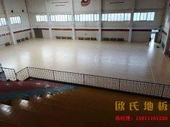 山东工业职业学院体育馆地板案例