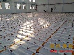 北京空军某部队室内篮球馆木地板竣工