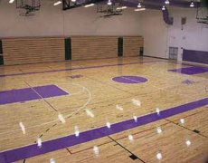 篮球馆为什么要安装实木地板