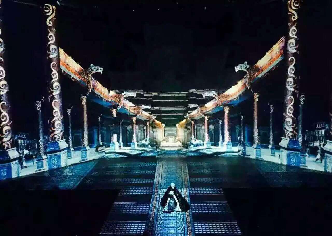 舞台木地板+舞台地胶银川西夏盛典剧院成功案例