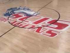 上海长宁国际学校篮球馆木地板案例