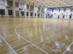 北京体育大学运动馆木地板翻新案例分享